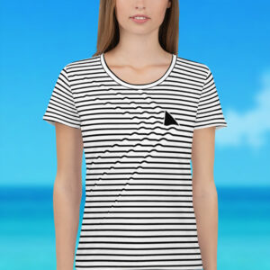 NEW Shark Ripples Women's Athletic T-Shirt