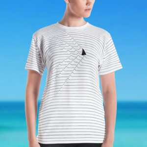 Shark thin ripples crewneck T-shirt