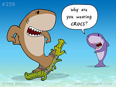 Shark cartoon crocs