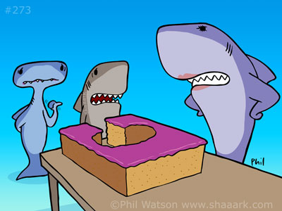 Shark cartoon cake bite csi