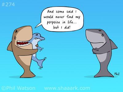 Shark cartoon finding purpose