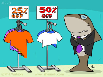 Shark cartoon sales