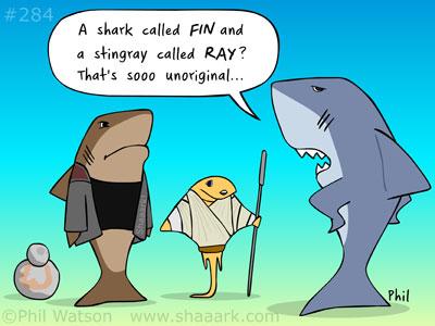 Shark cartoon Last Jedi